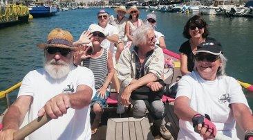 Philippe et son fan club remontent le canal face au vent